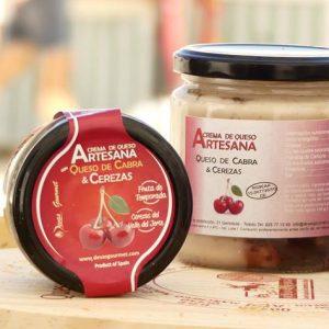 Crema de Queso Artesana con Queso Cabra & Cerezas