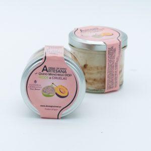Crema de Queso Artesana  con Queso Manchego   Higos & Ciruelas
