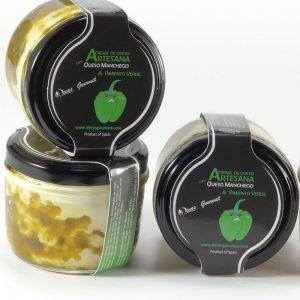 Crema de Queso Artesana  con Queso Manchego & Pimiento Verde