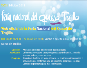 La Feria Nacional del Queso de Trujillo  2018